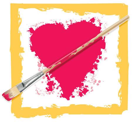 Vector heart with brush as arrow Stock Vector - 4074081