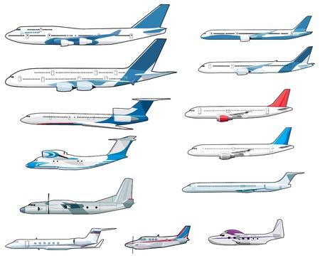 aerei: Set di civili airplananes