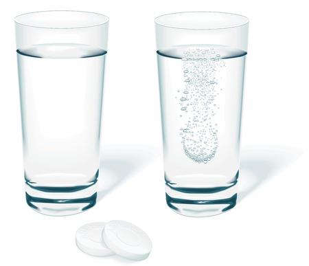 brisk: Vector tablet in water