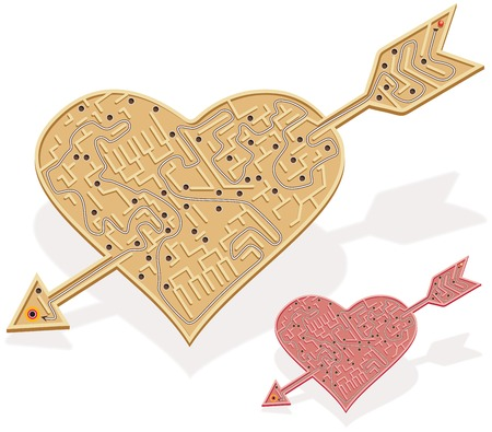 contemplating: Heart shaped labyrinth game