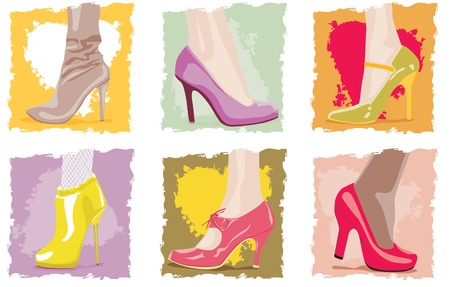 legs stockings: Female footwear Illustration