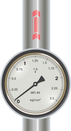 gage: Vector gas manometer with pipe