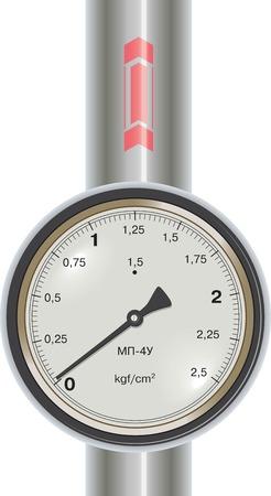 gagant: Vector Manom�tre avec tuyau de gaz