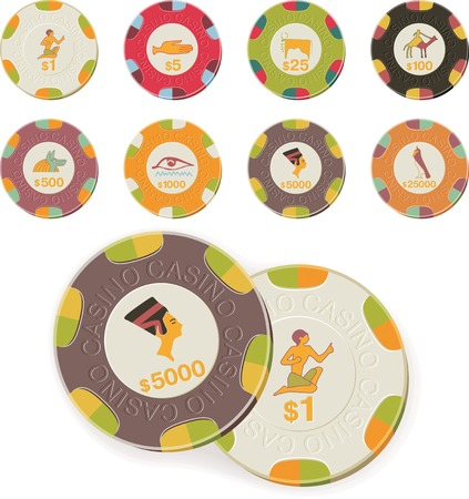 Vector casino chips set  Vector