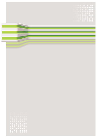 Grey cable with green stripes on grey background with dots Vector