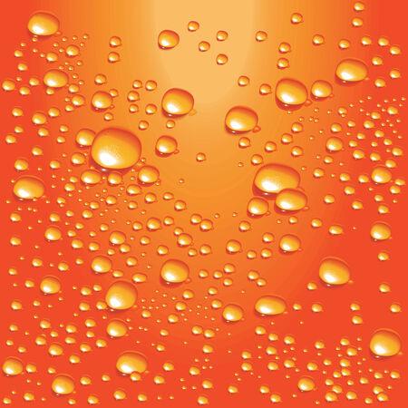 jugos: Vector de las burbujas de agua de naranja Vectores