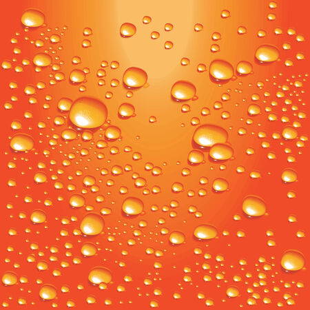 Vector orange water bubbles