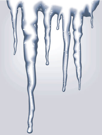 icicle: Blue vertical icicles on blue background Illustration