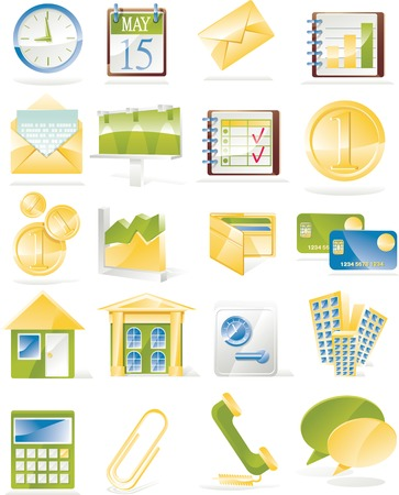 phone time: Vector business related icon set