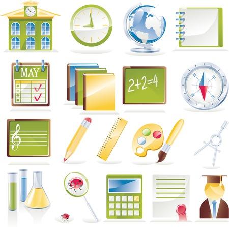 Vector school pictogram set Vector Illustratie