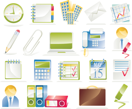 Office icon set Stock Vector - 4489432