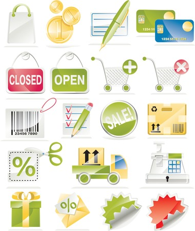 Vector shopping icon set Stock Vector - 4512789