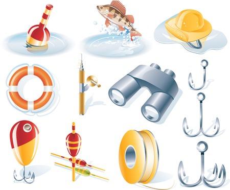Vector icône de pêche fixés