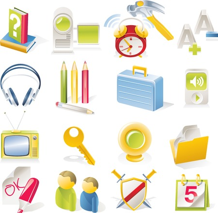 Vector objects icons set. Part 2 Stock Vector - 4666000