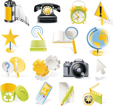 Vector objects icons set. Part 3 Stock Vector - 4666009