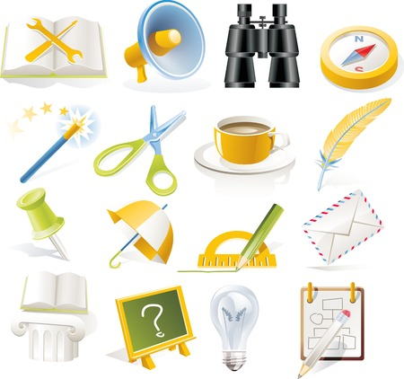 Vector objects icons set. Part 5 Stock Vector - 4666005