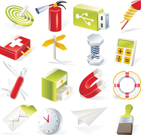 Vector objects icons set. Part 6 Vector