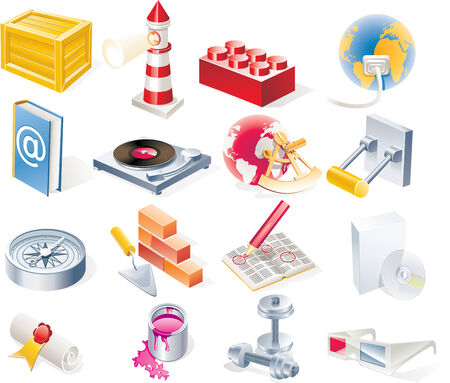 15: Vector objects icons set. Part 15