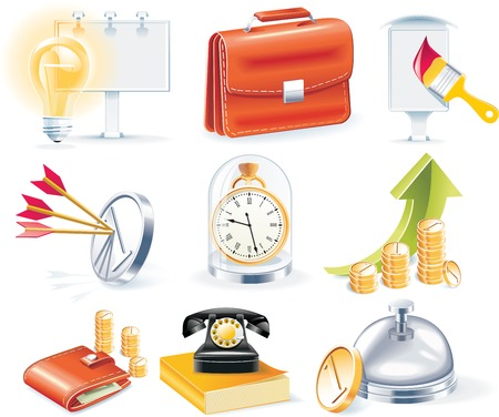 pocket book: Vector business icon set