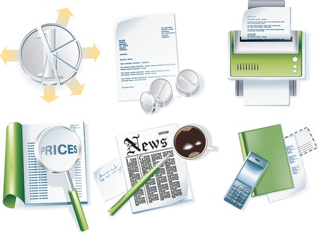 contacting: Vector business icon set. Part 1 Illustration