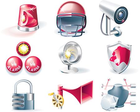 Vector security icon set Vector Illustratie