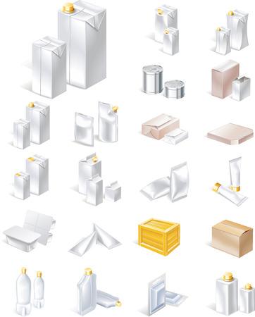 blisters: Icona di imballaggio Vector set