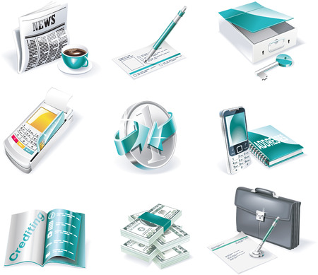 Vector banking icon set. Part 2 Stock Vector - 5260205