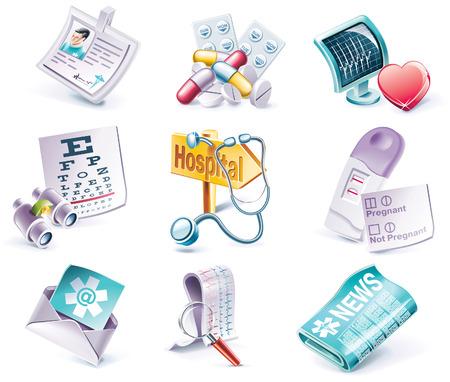 Vector cartoon style icon set. Part 29. Medicine Vector