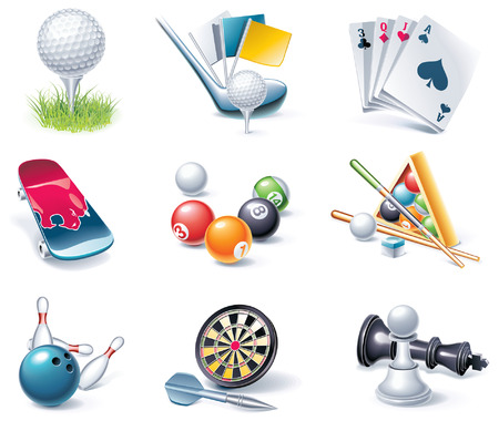 cartoon style icon set. Part 35. Sport Vector