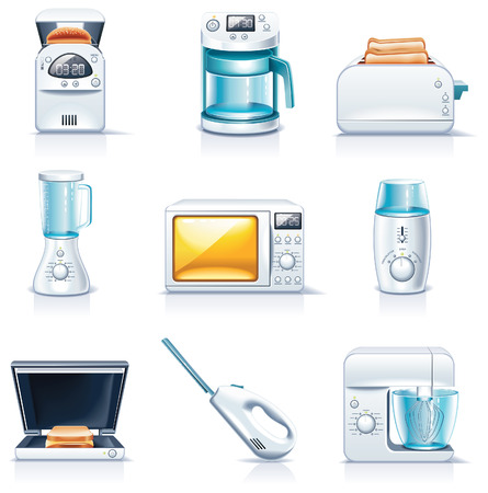 percolator: Vector household appliances icons. Part 1