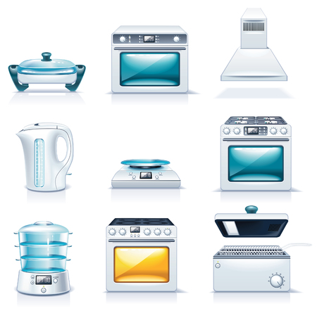 Vector household appliances icons. Part 2 Çizim