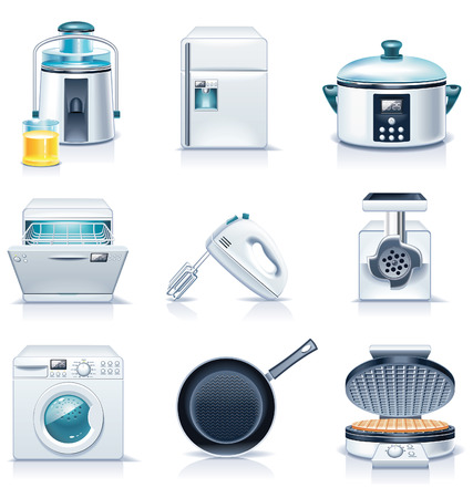 Vector household appliances icons. Part 3 Vector