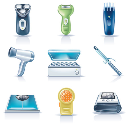 shaver: household appliances icons.