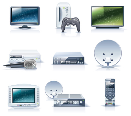 crt: Vector household appliances icons. Part 6
