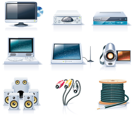 Vector household appliances icons. Part 7 Vector
