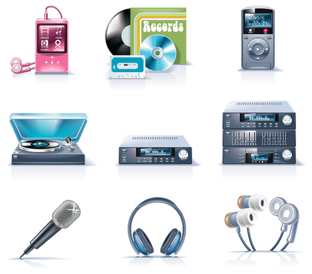 portable audio: Vector household appliances icons. Part 9 Illustration