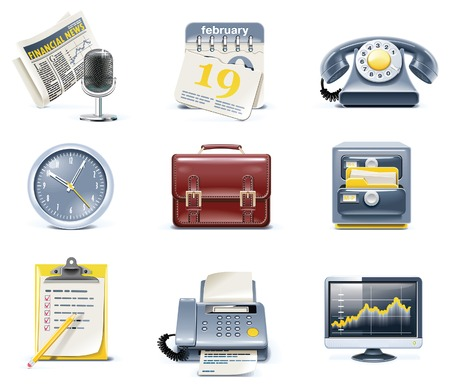 time machine: Ic�nes business et Bureau de vecteur. Partie 1  Illustration