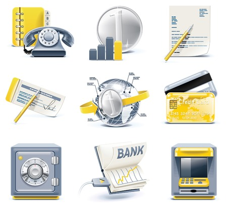 bank office: Vector business and office icons. Part 2