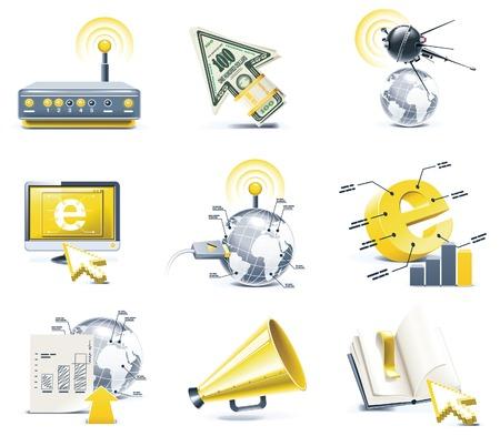 Vector communication icon set. Internet, part 1 Vector
