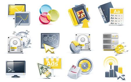 visualize: Set di icone sviluppo sito Web del vettore