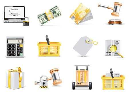 Vector online shopping icon set  Vector