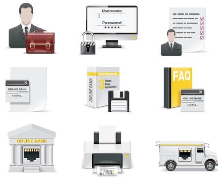 armored safes: Vector online banking icon set. Part 1 Illustration