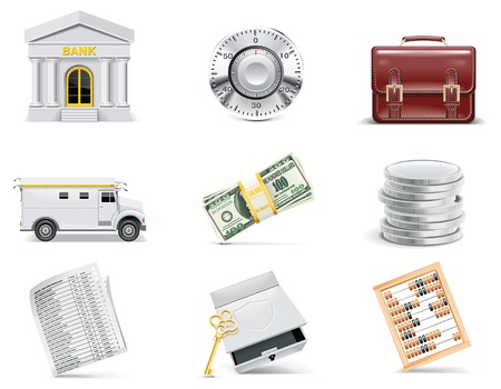 online banking: Vector online banking icon set. Part 3