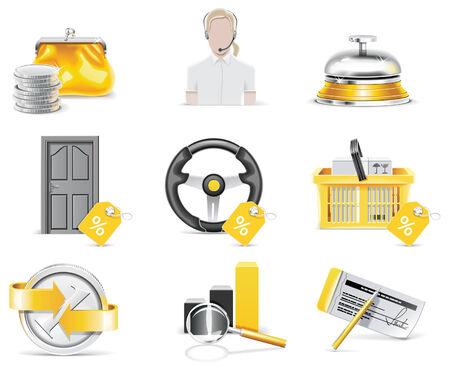 superacion personal: Banca en l�nea conjunto de iconos. Parte 4  Vectores