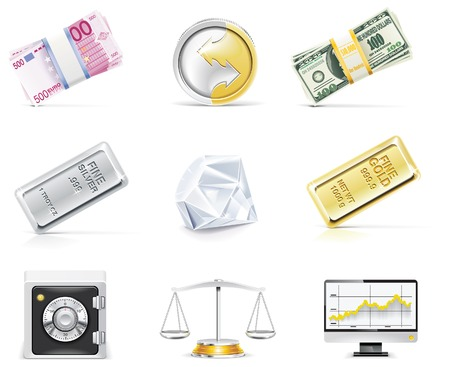 stack of coins: online banking icon set. Part 5