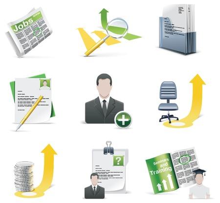 salarios: conjunto de iconos de reclutamiento