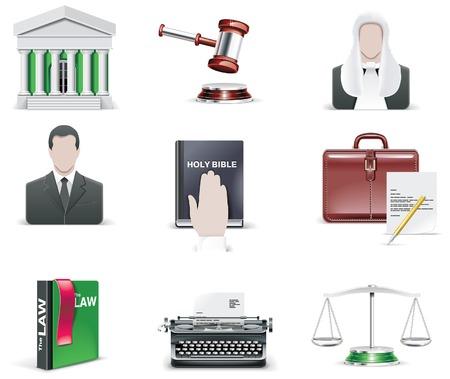 prosecutor: legge e ordine set di icone. Parte 1
