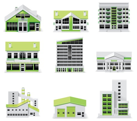 city map creation kit (DIY). Part 1. Buildings Vector