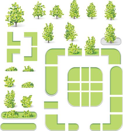 planlama: City map creation kit (DIY). Part 9. Parks and lawns Çizim