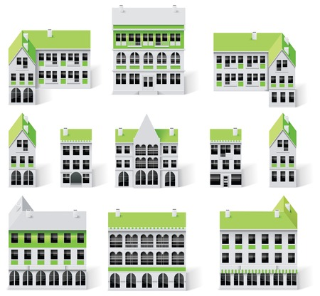 City map creation kit (DIY). Part 7. Buildings Vector